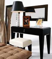 Dressing table and chair table lamp curtain bench display complete set 3d model