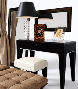 3D dressing table chair