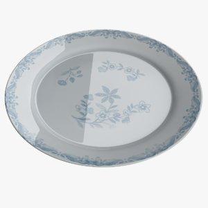 3D plate dish food model