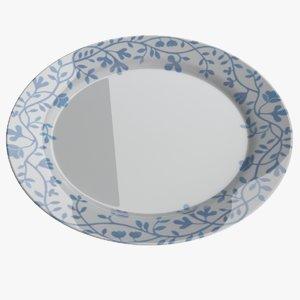 3D plate dish food