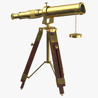 vintage telescope 3D
