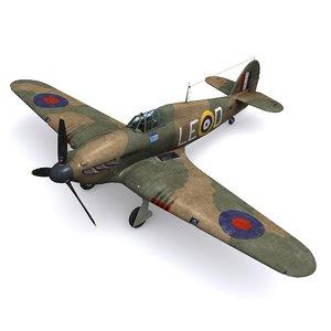 3D hurricane mk ia squadron model