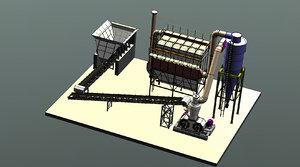 3D calcite facility 0-160 micron