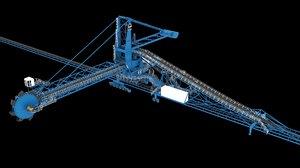 stacker reclaimers 3D model