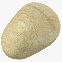 smooth river rock 16 3D model