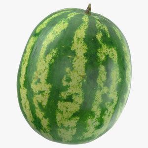 3D model watermelon 02