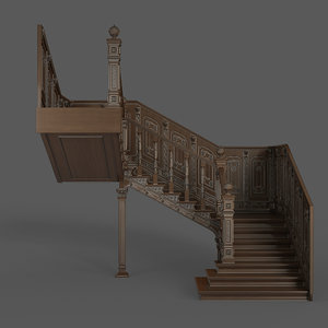 stair kitbash cnc 3D model