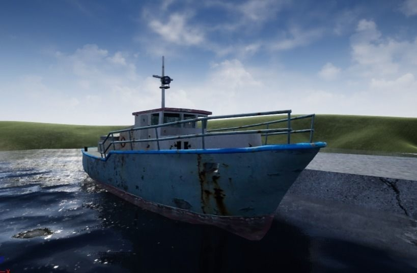 3D old rusty ship
