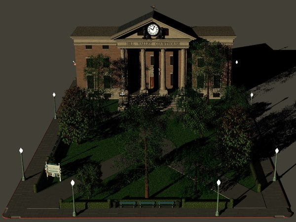 hill valley courthouse statler 3D