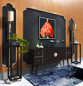 chinese style cabinet 3D