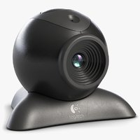 3D model webcam logitech dark 3