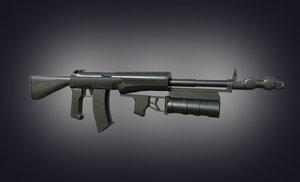 gun unity 3D model