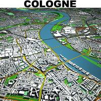 cologne cityscape 3D model