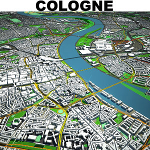 cologne cityscape 3D model