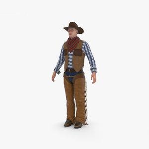 cowboy person human 3D