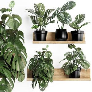 3D plants wall decor vertical model