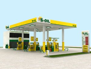 3D model korean gasoline station gas