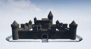 3D modular medieval castle
