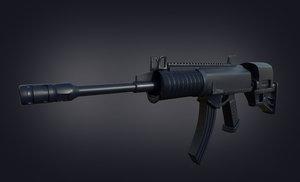 galil rifle 3D model