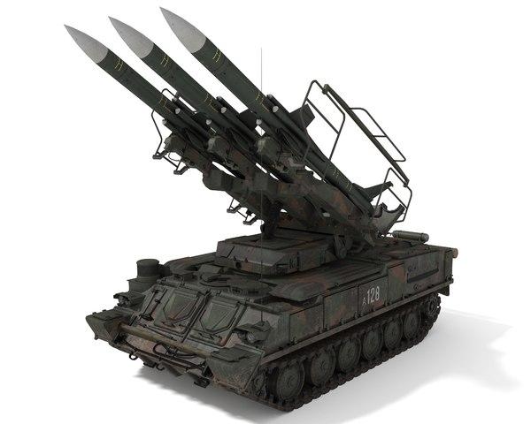 sa-6 missile 3D model