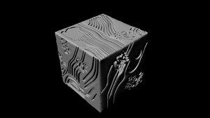 cube geometric 3D