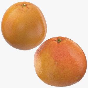 grapefruit orange 3D model