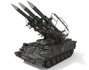 sa-6 missile snow 3D model