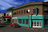 Hill Valley  Lous Diner & Roys Records