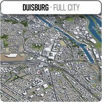 duisburg surrounding - 3D model