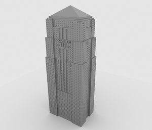 wayne tower 3D model
