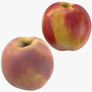nectarine peach 3D