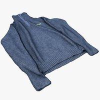 merino pullover sweater model