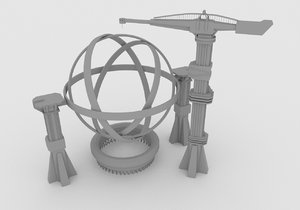 wormhole machine 3D model