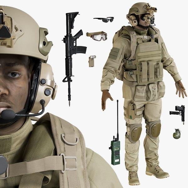 uniform equipment 3D
