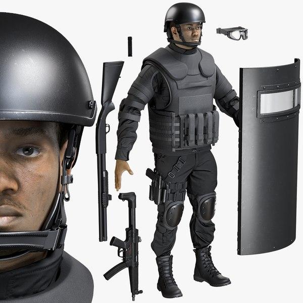 3D uniform swat equipment model