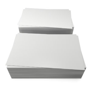 3D stack blank business cards