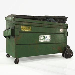 dumpster garbage bags 3D