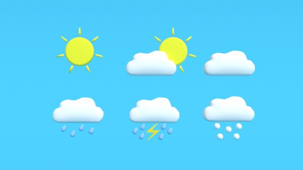 weather symbols 3D model