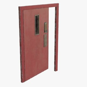 3D real metal secure door model