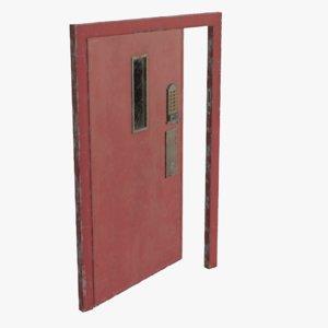 3D real metal secure door model