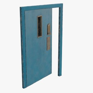 real metal secure door model