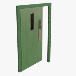 3D real metal secure door