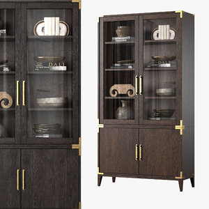 3D cayden campaign glass double-door