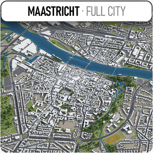 3D maastricht surrounding - model