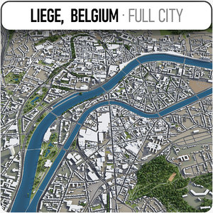 3D liege surrounding - model