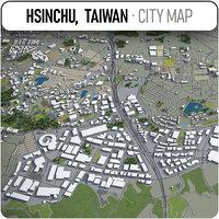 hsinchu taiwan surrounding - model