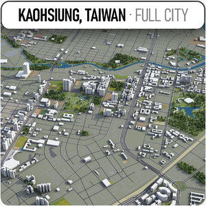 kaohsiung surrounding - 3D model