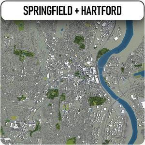 3D springfield hartford surrounding - model