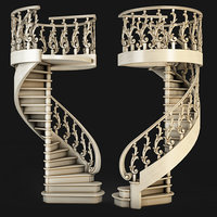 3D step stair staircase model