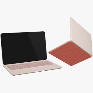 3D google pixelbook orange